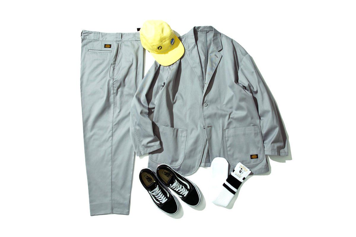 TRIPSTER Dickies Workwear Capsule smart collection menswear streetwear spring summer 2020 garments five panel socks cotton twill patch logo pin