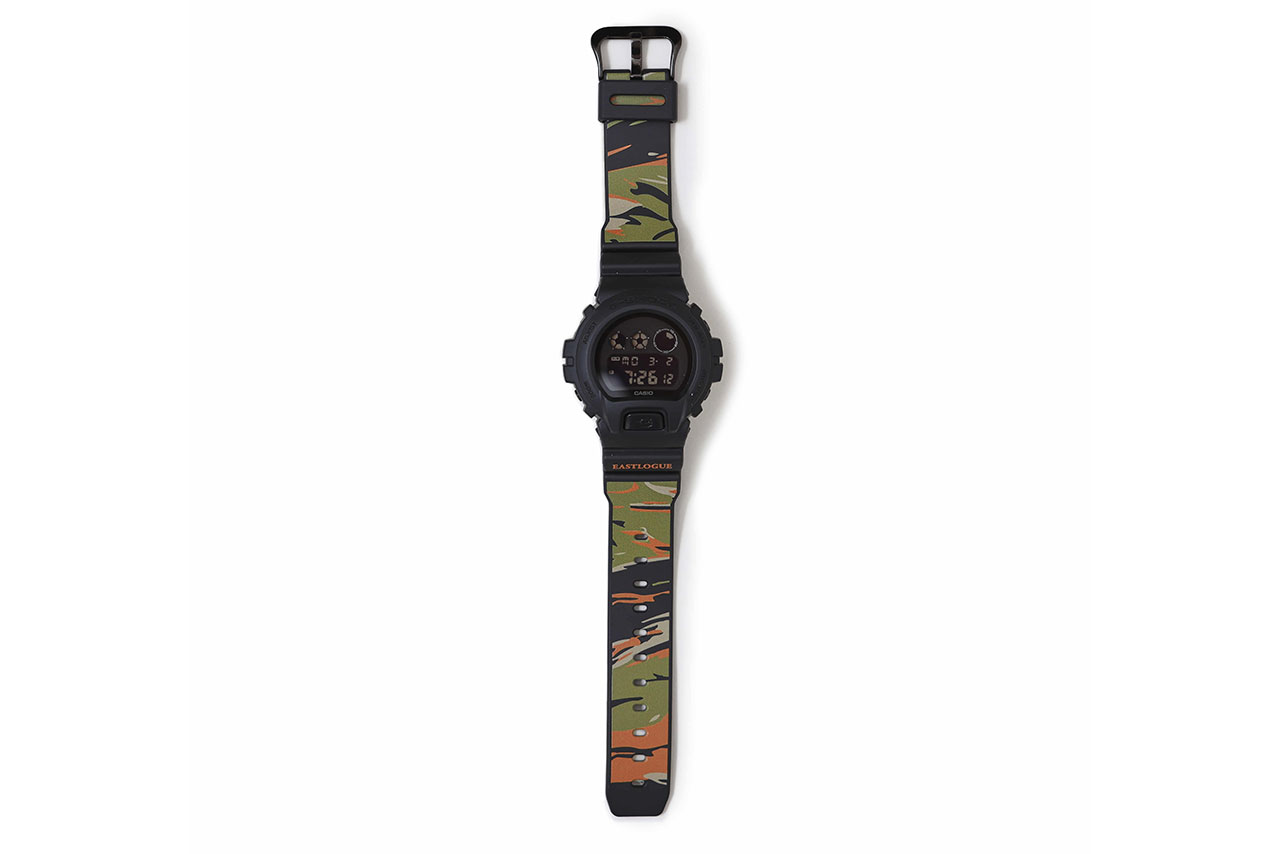 Eastlogue x G-SHOCK DW-6900 Watch Collaboration timepiece korea release date info buy colorway tiger camo
