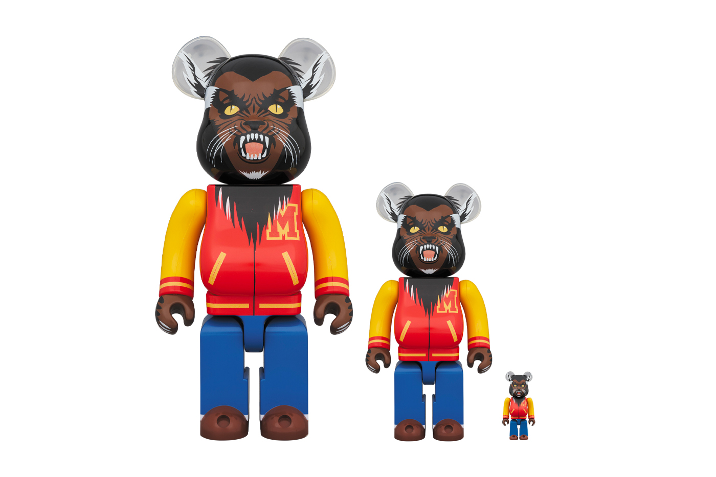 "Medicom Toy x Michael Jackson ""Thriller"" BE@RBRICK release info collectible werewolf varsity jacket"