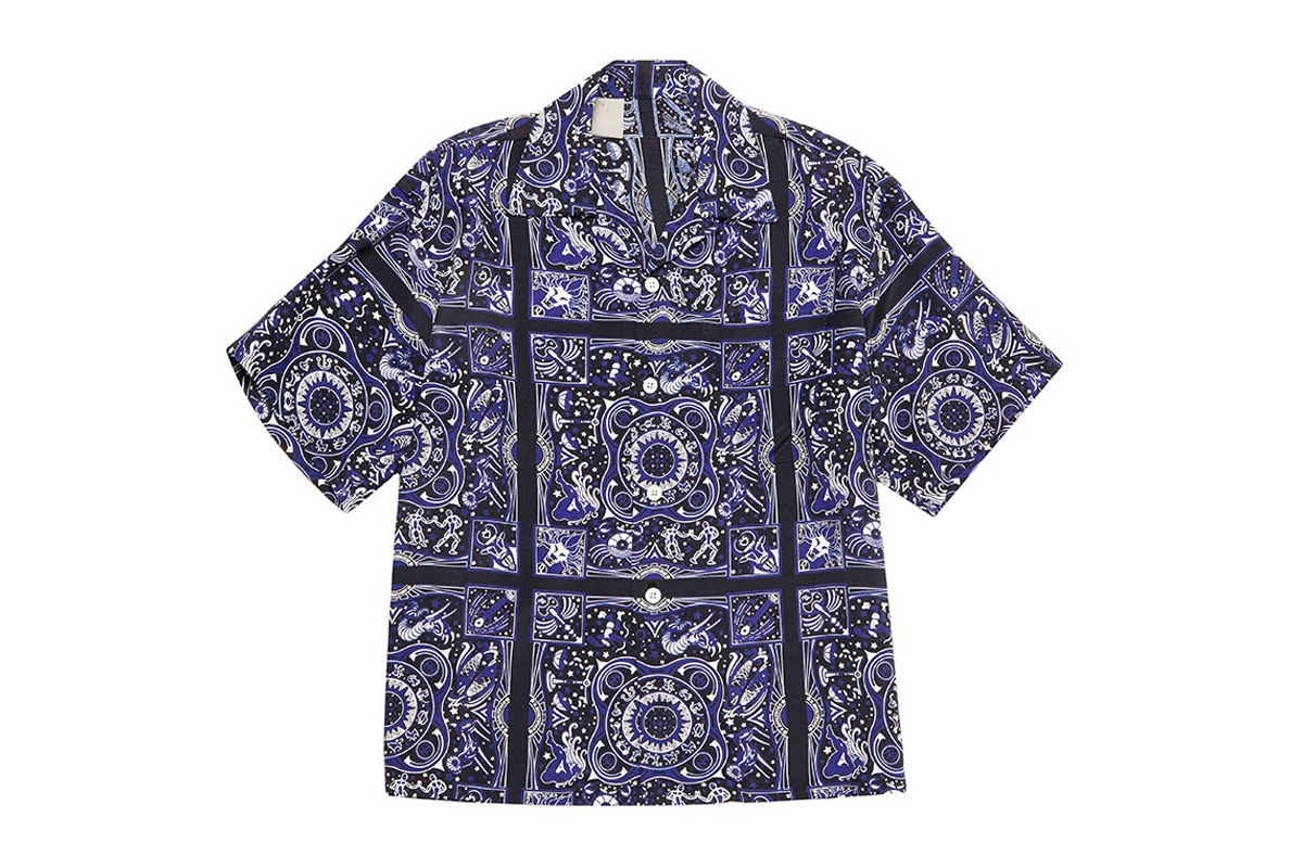 N HOOLYWOOD Hawaiian Button Ups Shirts Shorts garments zodiac constellation symbols spring summer 2020 collection Bandana print pattern