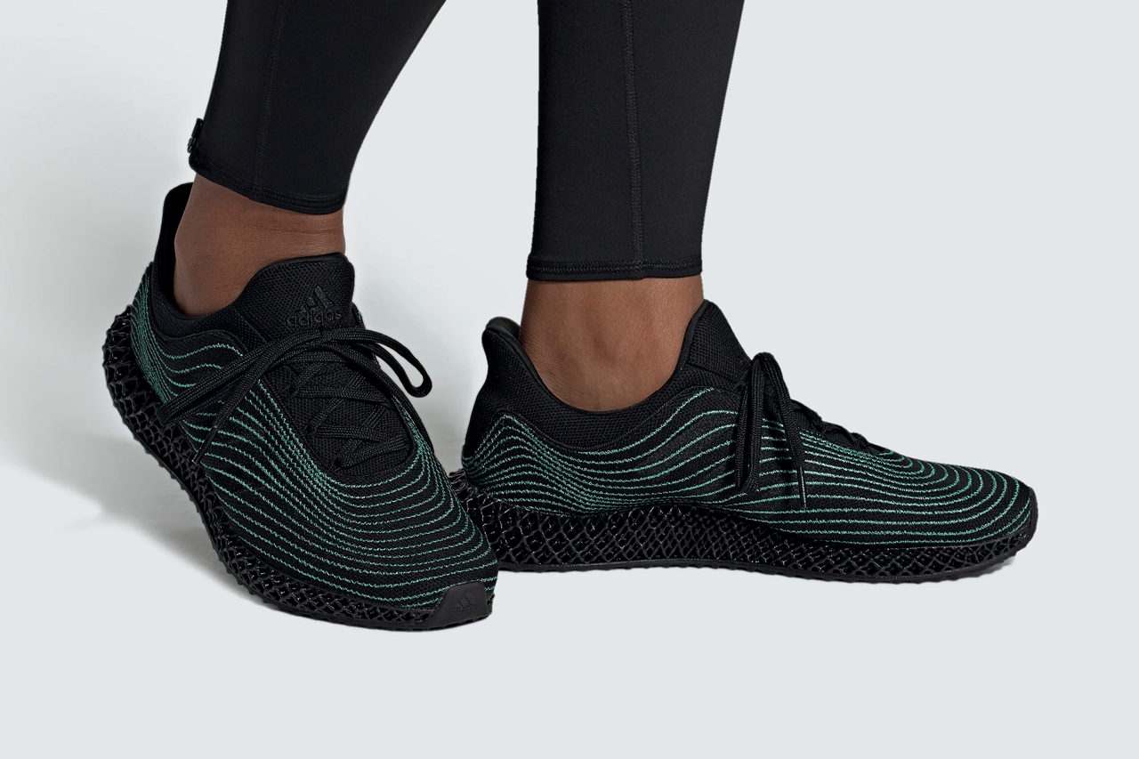 adidas 4d parley sneaker shoe FX2434 core black blue spirit official release date info photos price store list buying guide