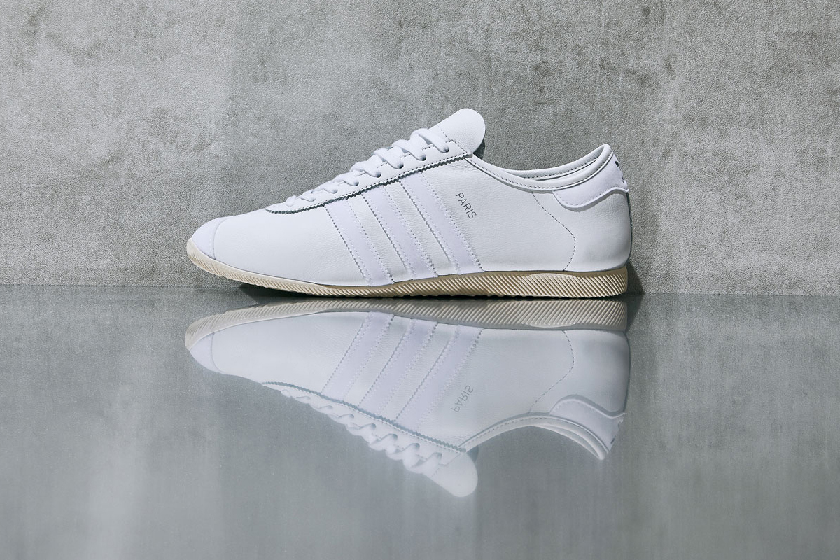 end clothing adidas originals paris exclusive release details buy cop purchase white silver leather suede