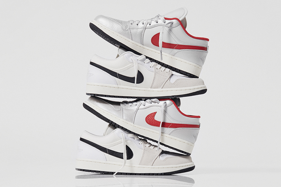air jordan brand 1 low gel astrograbber night track white silver red black size exclusive DA4668 001 DC3533 100 release date info photos price store list buying guide