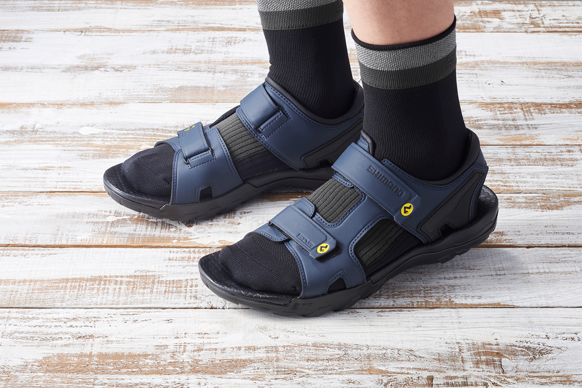 Shimano SD50 SPD Sandals 25th Anniversary World First Cycling Slide Slipper Footwear Release Information Iconic Design OG Old School Black Navy NOS New Old Stock