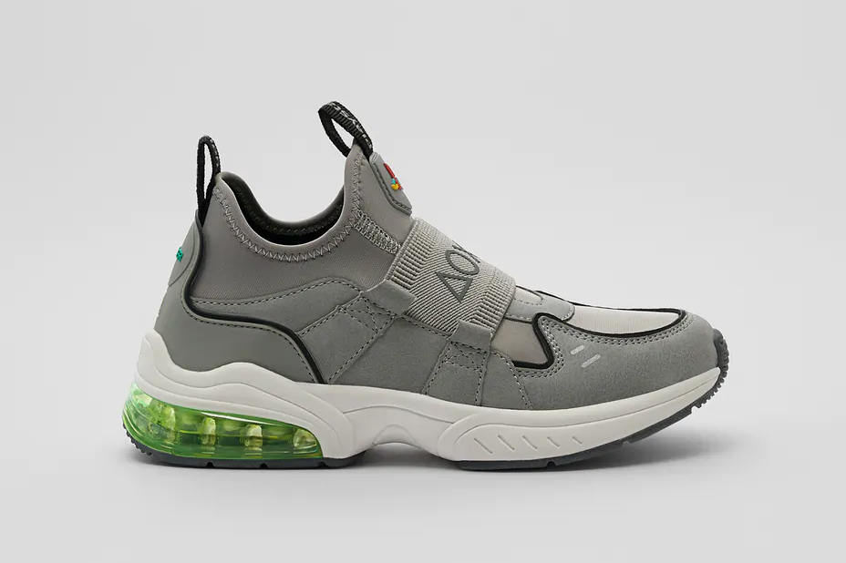 zara sony playstation shoes sneakers grey green gaming official release date info photos price store list buying guide