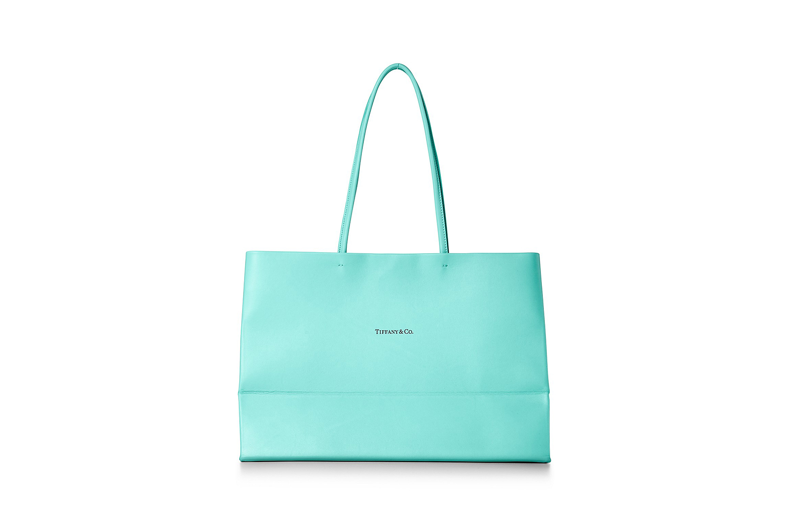 Tiffany & Co. Leather Tote Shopping Bag blue leather New York 68414180 leather goods
