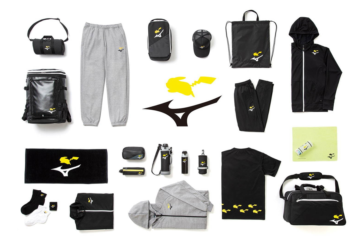 Pokémon Center x Mizuno Pikachu Collaboration collection release date info buy august 15 2020 clothing apparel