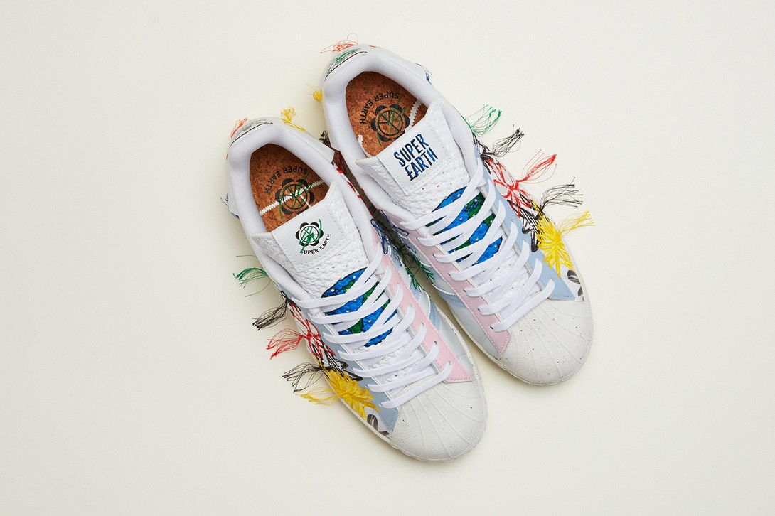 Sean Wotherspoon x adidas Originals SUPEREARTH Superstar Vegan Sneaker Official First Look Release Information Drop Date Hype Footwear Collaboration SW Shell Toe Three Stripes Flowers