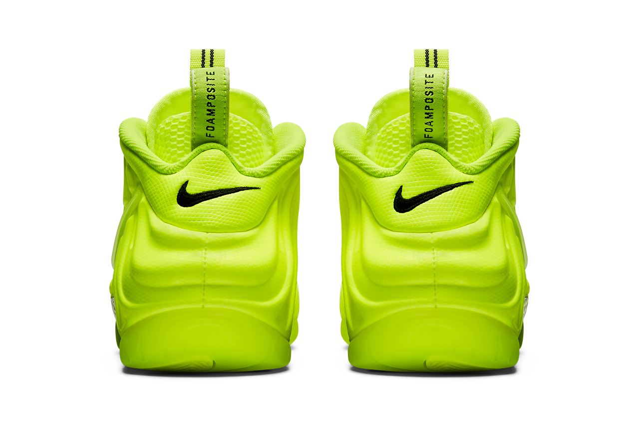 nike sportswear air foamposite pro volt black 624041 700 official release date info photos price store list buying guide