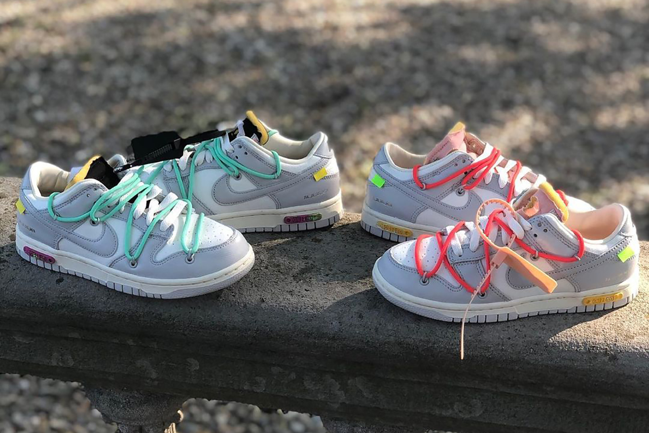 """Off-White™ x Nike Dunk Low """"THE 50"""" 04 and 06"""