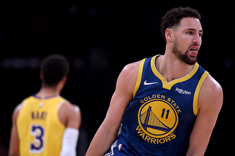 Klay Thompson 三节狂射 44 分带领 Warriors 击退 Lakers