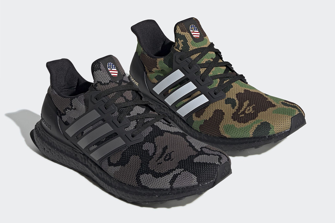 A BATHING APE® x adidas 全新联名 UltraBOOST 官方图片释出