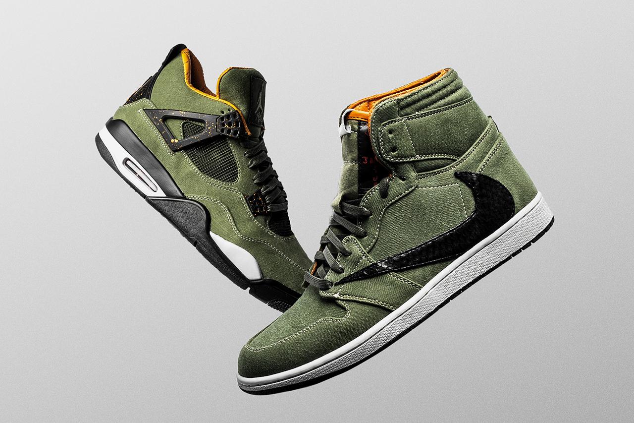 The Shoe Surgeon 为 Travis Scott 打造独占 Air Jordan 1 及 Air Jordan 4 鞋款