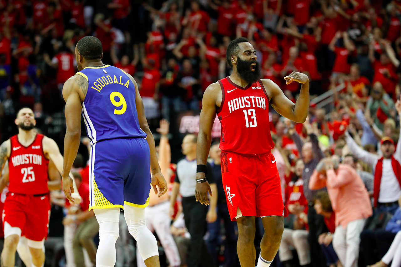 NBA 季后赛 2019 − James Harden「红眼」仍飙 41 分领 Rockets 于延长赛险胜 Warriors
