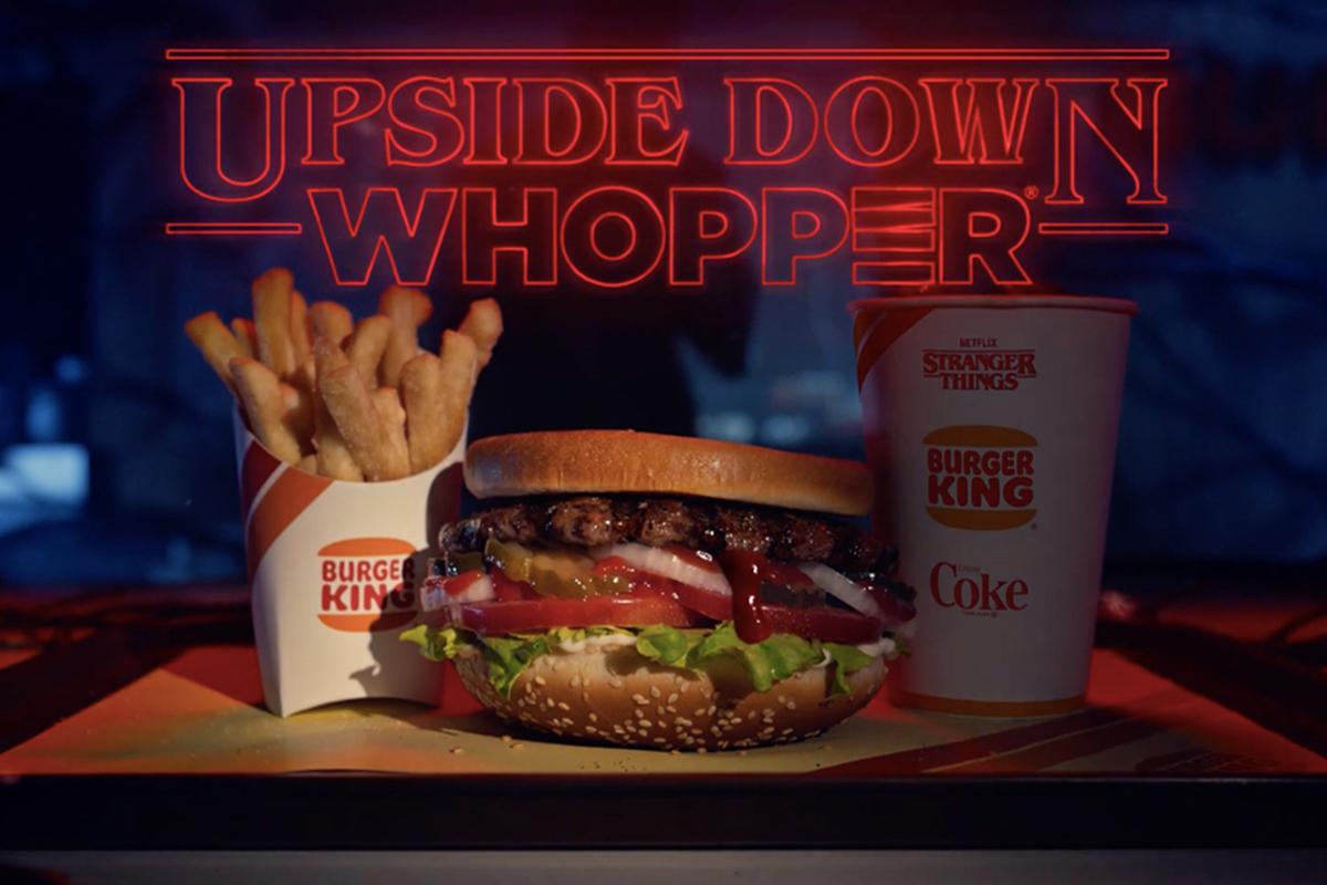 Burger King 为人气影集《Stranger Things》第三季推出限定「Upside Down Whopper」套餐