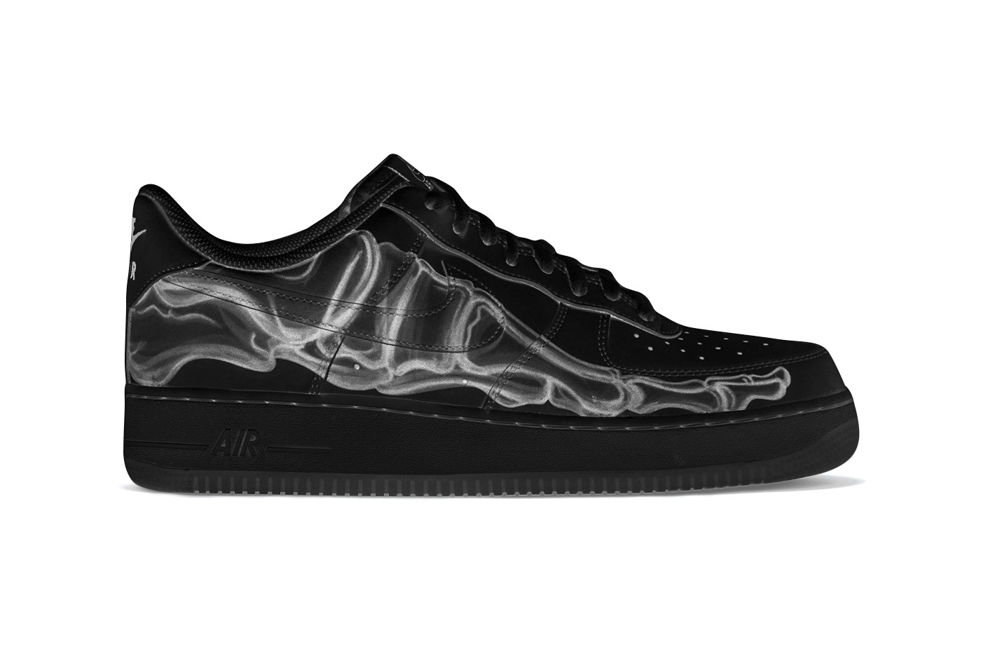 Nike Air Force 1 万圣节别注配色「Black Skeleton」发布