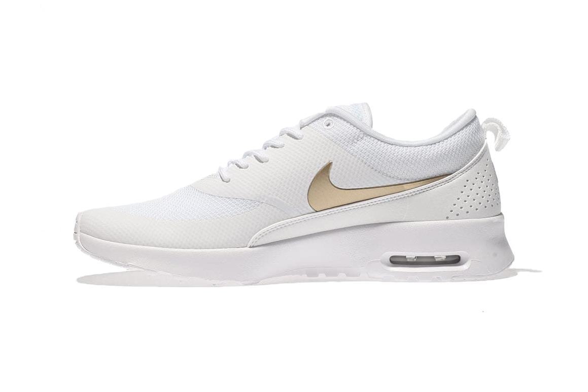 Glimrende Nike Air Max Thea White / Metallic Gold Swoosh   HYPEBAE VO-92