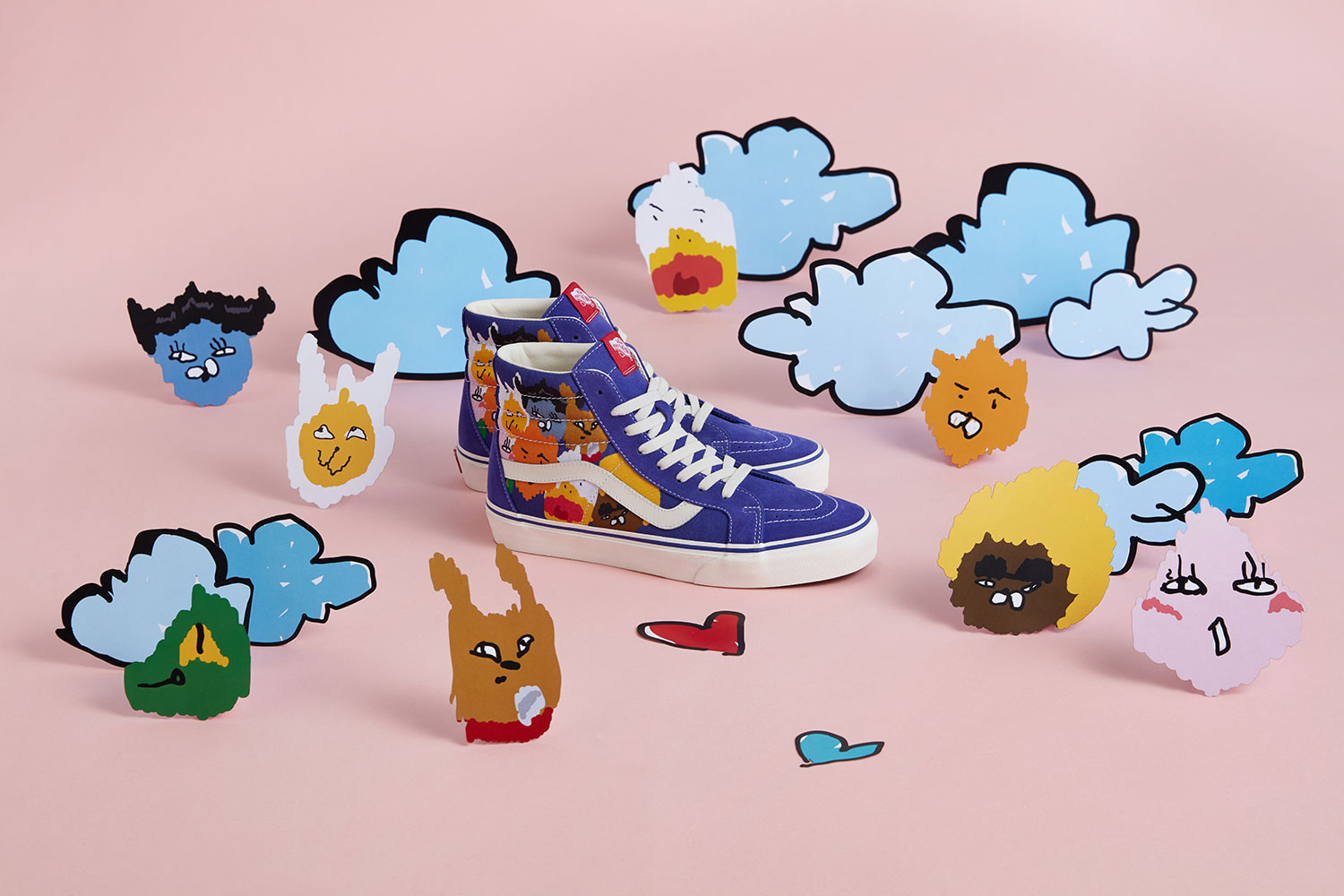 Kakao Friends x Vans Capsule Collection Sk8 Hi Blue White
