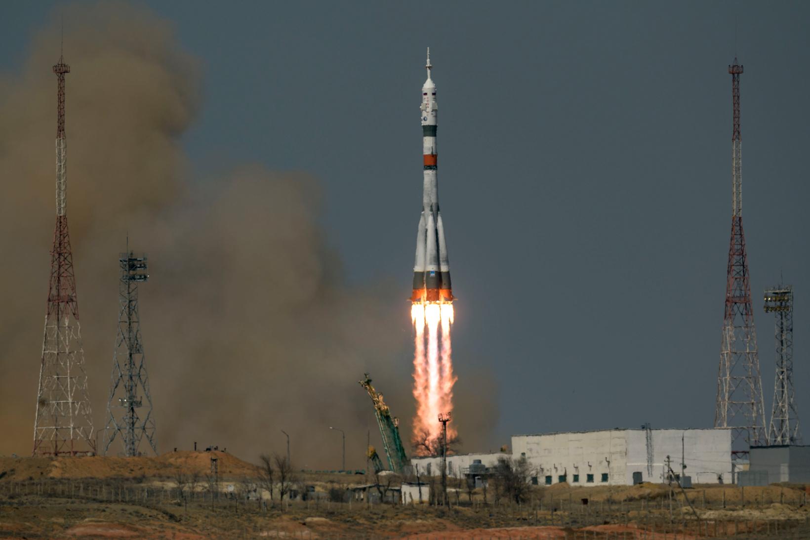 NASA Expedition 65 Soyuz Launch