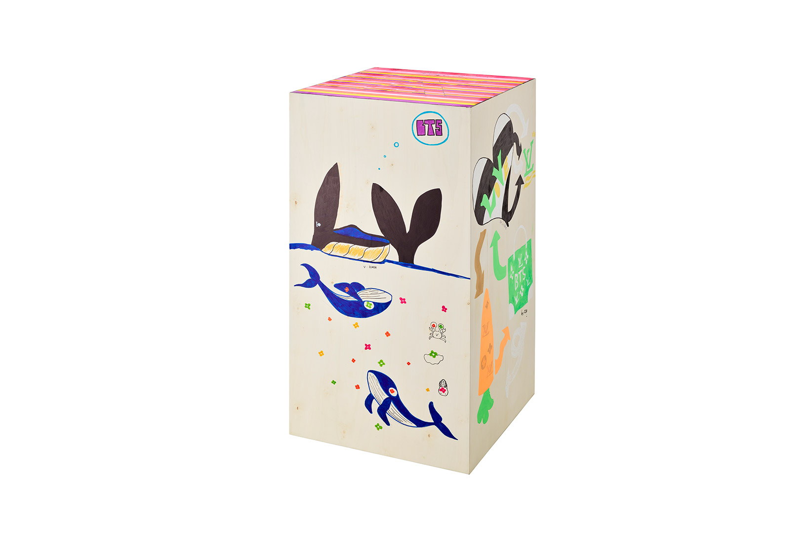 BTS Louis Vuitton Iconic Trunk 200th Birthday Anniversary Whales